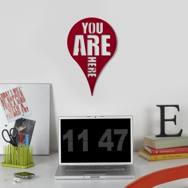 You Are Here Wall Art #gadget #home