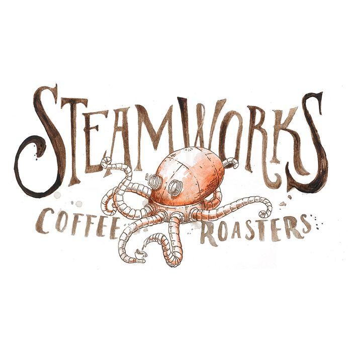 Steamworks Logo | Projects | 12 Grain | Design & Illustration Studio | Buffalo, NY