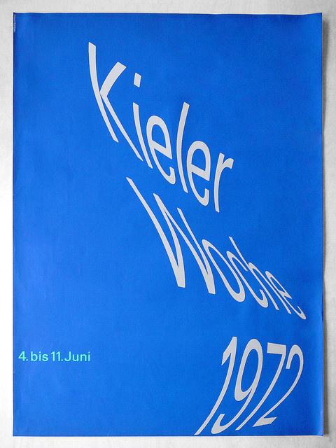 Rolf Müller — Kieler Woche (1972) #design #poster #typography