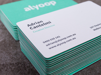 Alyoop Business Card #business #branding #card #print #letterpress #logo #typography