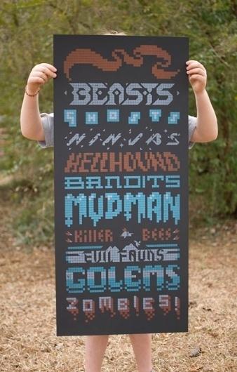 Design Envy · Baddies: Samuel Cox and Justin LaRosa #letterpress #lego #poster #typography