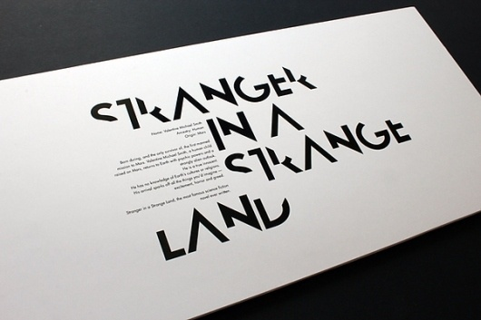 Waterstones Science Fiction Month on the Behance Network #print #minimal #typo #typography