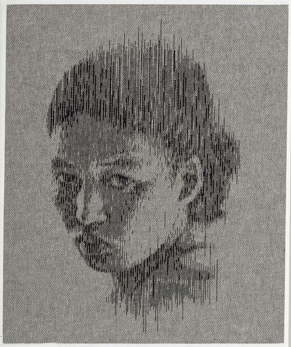 New Portraits by Kumi Yamashita Made with Nails, Thread, and Denim #pins