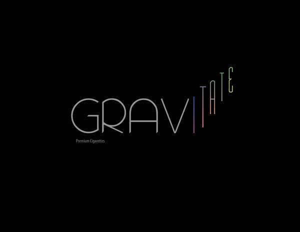 Logo for Gravitate Premium Cigarettes by Christina Cagle #logo #identity
