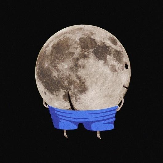 Make Something 365 on the Behance Network #illustration #moon
