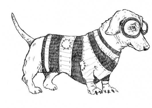 Art Sponge I Inspirational Visual Art #lines #illustration #natalie #animal #funny #dog