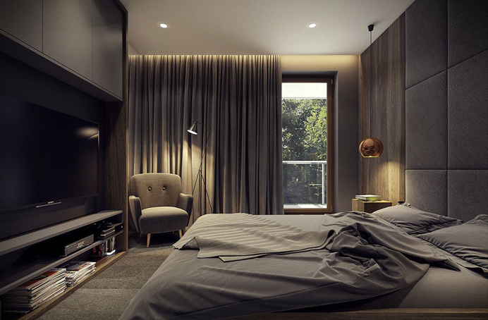 Modern Bedroom °2 - Apartment °1 #modern #bedroom #cameradaletto #moderna #appartamento #moderno