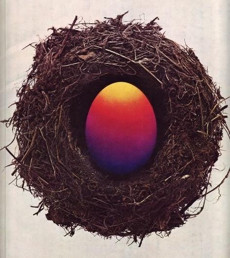 Gebrauchsgraphik in the Sixties - 50 Watts #egg #nest #1967 #gebrauchsgraphik #magazine