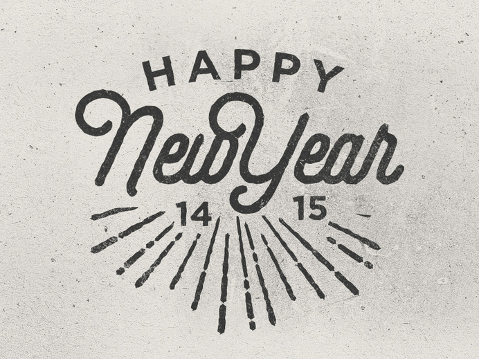 Happy new year by Jacob Nielsen #lettering #script #vintage #grunge #typography
