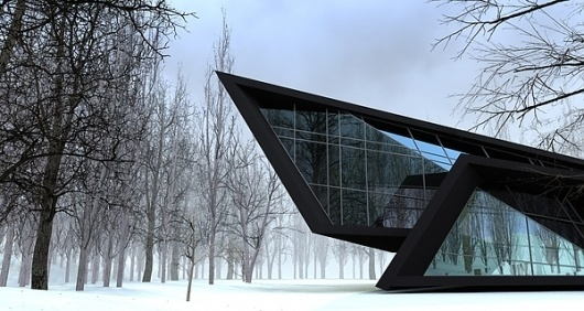 House In The Forest #house #design #black #architecture #minimal #beka #forest #style #winter