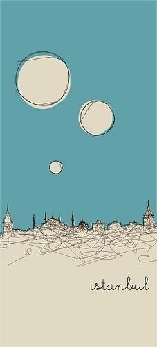 Istanbulines © Engin Korkmaz 2008   Flickr - Photo Sharing! #line #doodle #turkish #design #retro #istanbul #illustration #mosque #drawing