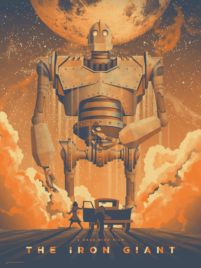 The Iron Giant poster by DKNG #dkngstudios #poster