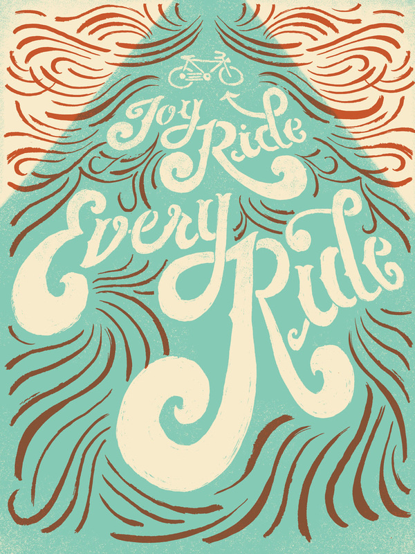 JoyRide_color_01.jpg #bikes #calligraphy #ride #lettering
