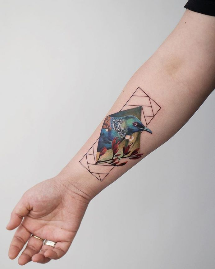 Rey Jasper Andres bird Tattoo