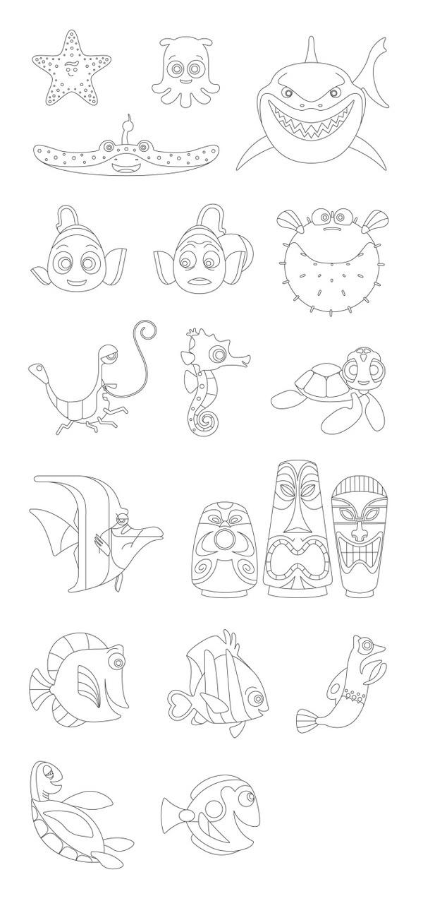 DISNEY / PIXAR Mitchell Clements #nemo #illustration #vector #disney