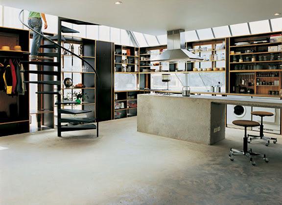 Kitchen #interior #kitchen #concrete