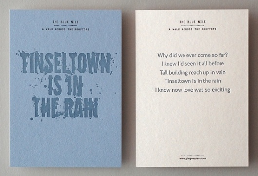 Creative Review - That's Impressive: promoting letterpress #print #letterpress #postcard #typography