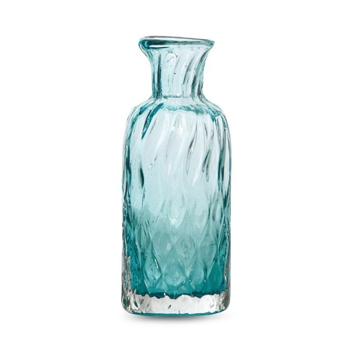 Dwyer Teal Glass Diamond Pattern, 25 cm