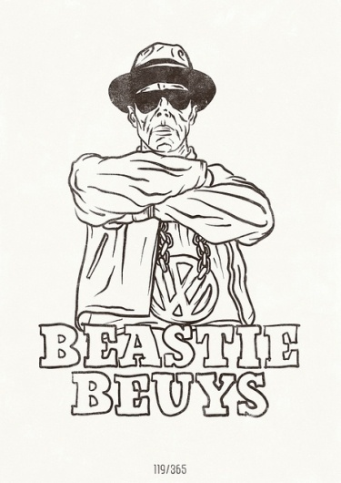 119/365 - The All Day Everyday Project | Flickr - Photo Sharing! #beuys #beastie #illustration #boys #poster