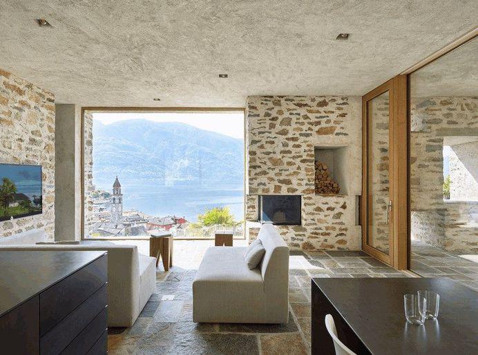 Stunning Stone House in Switzerland Unveils Modern Interiors 7