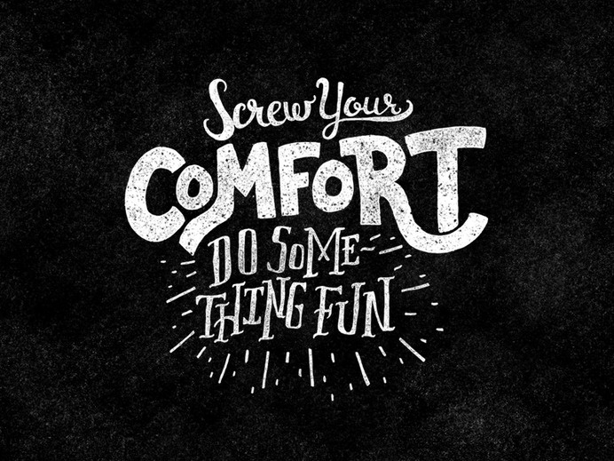Screw Your Comfort by Dennis Cortes #logo #lettering #design #typography