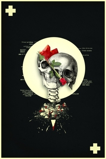 Eyaculacion_Post_Mortem_by_ytuquike.jpg (500×750) #red #death #gothic #poster #flower #skull #dark
