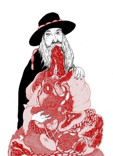 Hard Feelings on imgfave #ilustration #meat #red #black