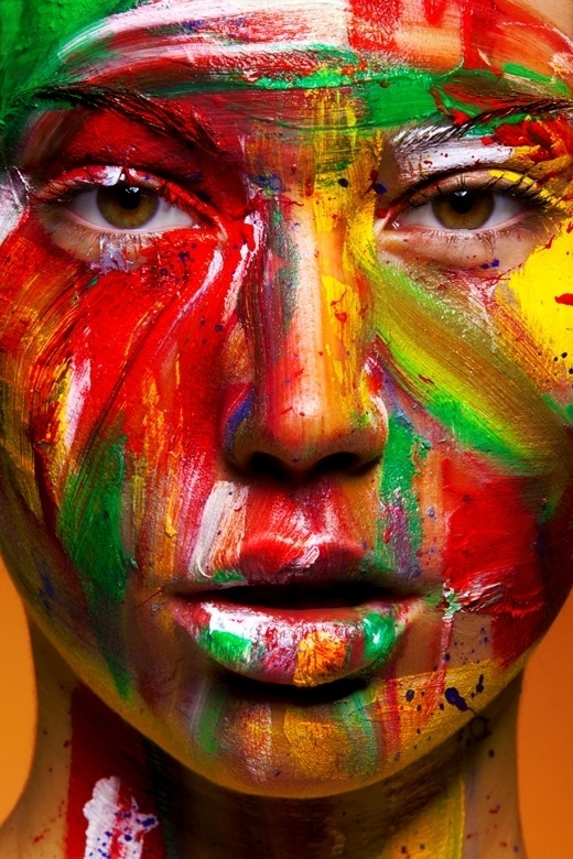 Beautiful Makeup & Body Painting by Viktoria Stutz   123 Inspiration #paint #photography #color