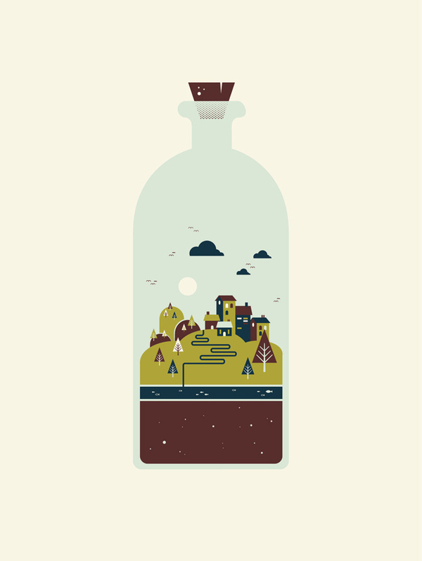 Waller Creek #waller #garner #bottle #city #benjamin #illustration #creek