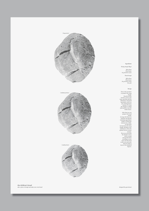 Children's bread #graphic #recipe #food #bw #bread
