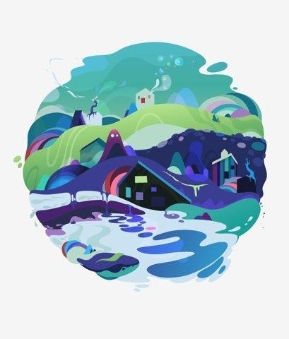 FFFFOUND! | wi105-13.jpeg 600×704 pixels #playful #bubbly #world #illustration #colorful #liquid #cute #splash #ffffound