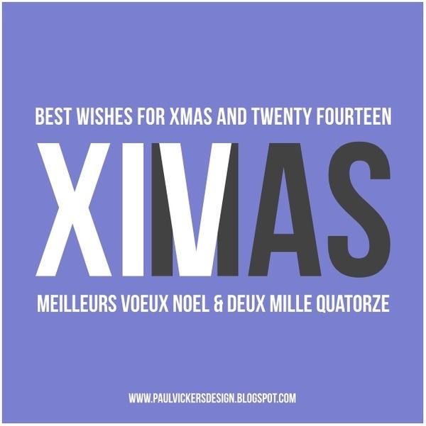 Paul Vickers : Design Thinking #year #greetings #christmas #xiv #twenty #2014 #and #xmas #fourteen #new