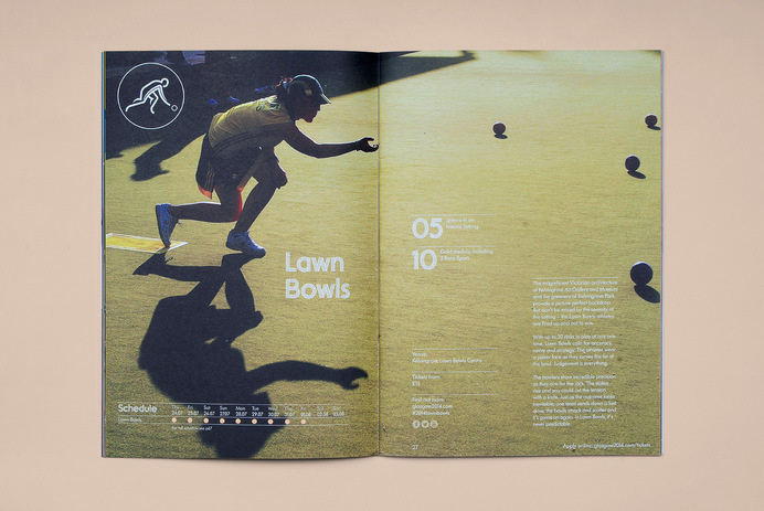 Tangent — Glasgow 2014 Ticketing Guide #guide #print #grid #spread #layout #brochure