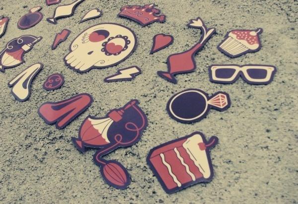 caveira - agatarocha.com #illustratio #magnets #funny