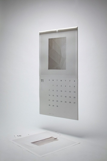 Help Save Paper (Wall Calendar) on the Behance Network #grid #calendar #typography