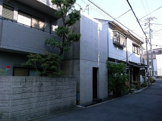Row House in Sumiyoshi (Azuma House) | Flickr - Photo Sharing! #azuma #concrete #tadao #house #ando #row #photography #architecture