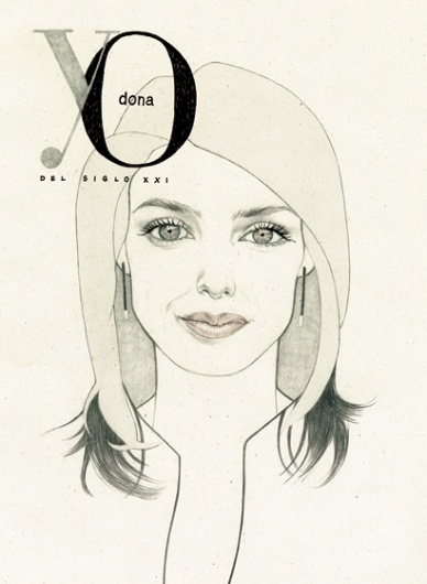 letizia ortiz   Denise van Leeuwen #illustration #portrait #watercolor #pencil #magazine