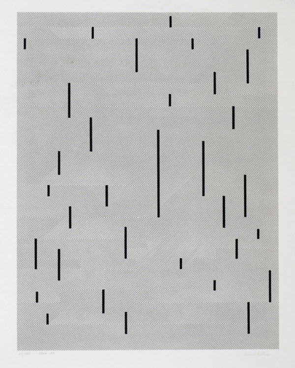 Anni Albers With Verticals, 1946/1983 #b&w