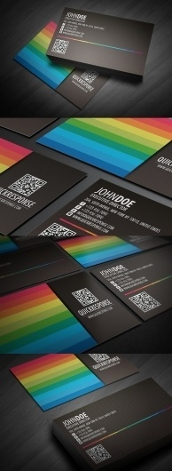 Quick response business card design ver 04 - Business Cards - Creattica #card #design #business