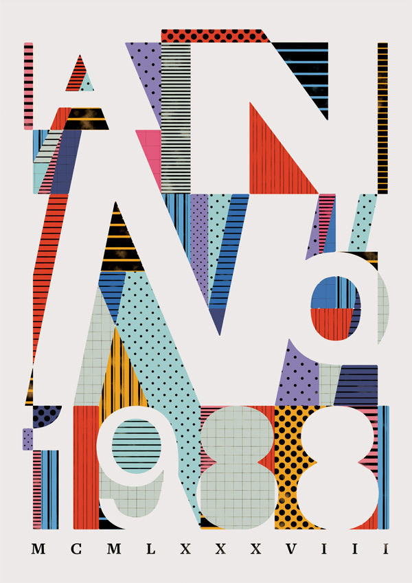 The Type Collective on Typography Served #pattern #design #graphic #shape #poster #80s