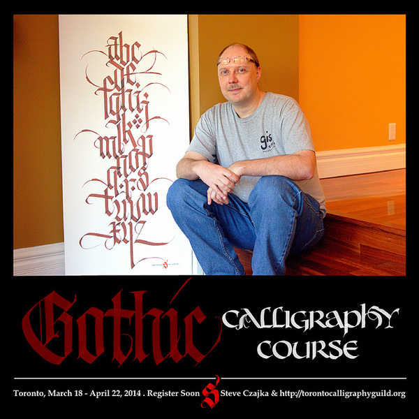 Gothic #calligraphy #lettering #created #course #gothic #brush #toronto #hand