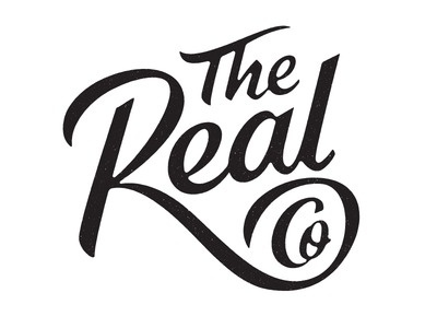 The Real Co #typography #logotype #branding #lettering