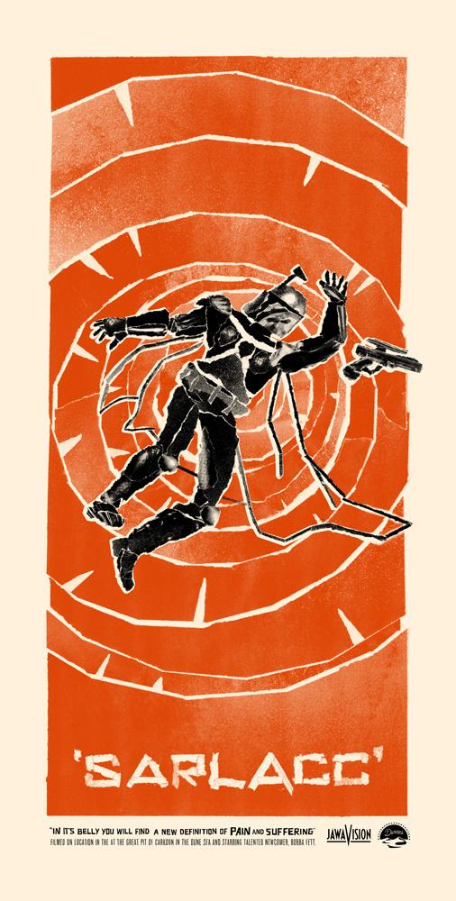 Sarlacc Benny #movie #wars #benny #hennessy #illustration #star #poster #collage