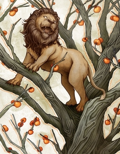 EK Interview: Yuta Onoda | EMPTY KINGDOM You are Here, We are Everywhere #draw #illustration #lion #tree