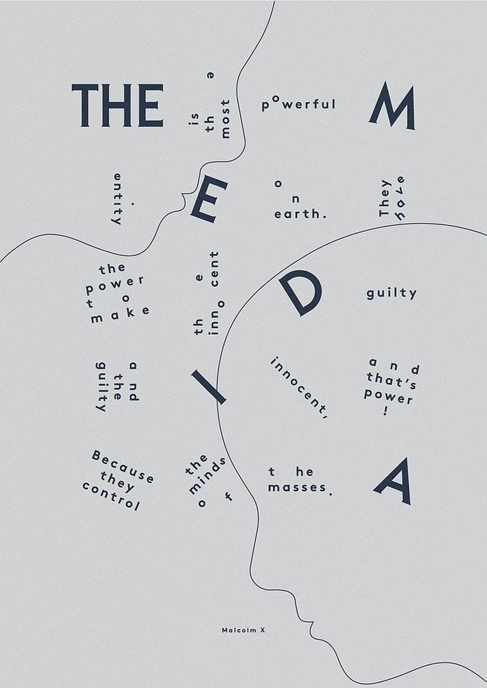 Malcolm X #inspiration #print #typography