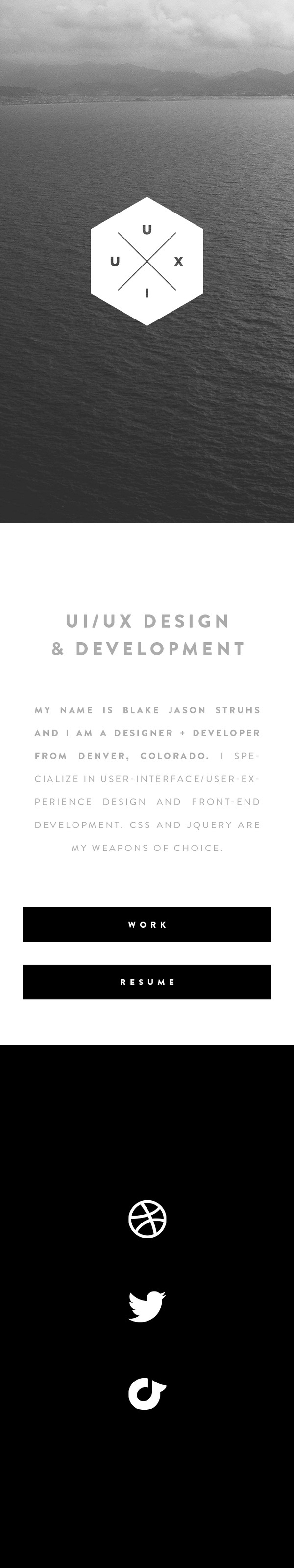 Blakejasonstruhs #responsive #design #mobile #minimal #web