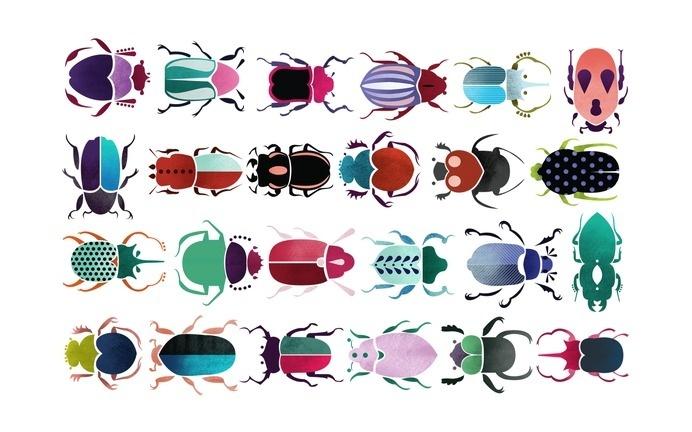 Siobhan Gallagher wallpaper - iPhone, iPad, Desktop #illustration #bugs #minimal