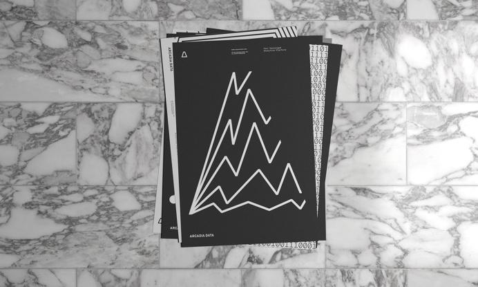 arcadia data branding black and white geometry minimal beautiful designer Casey Martin inspiration designblog mindsparkle mag www.mindsparkl