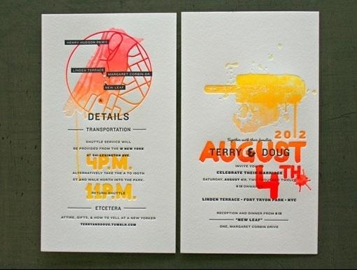 Design Work Life » cataloging inspiration daily #invitation #new #gradient #york #wedding #neon