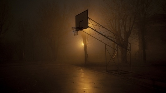 All sizes | Night game (in 16:9) | Flickr - Photo Sharing! #fog #night #hoop #atmosphere #basketball